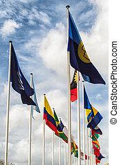 verenigd, vlaggen