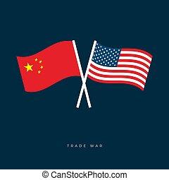 verenigd, wind., slingeren, gekruiste, ons, staten, amerika...