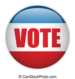 verenigde staten, verkiezing, stem, button.