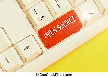 verfügbar, weißes, wortpapier, tastatur, software, schreibende, geschaeftswelt, hintergrund, oben, schlüssel, leerer , source., pc, begriff, rgeöffnete, original, frei, denoting, text, space., merkzettel, quelle, kopie, code