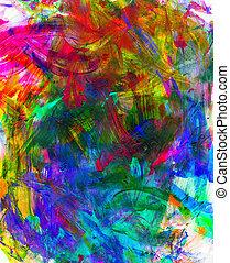 verf , acryl, achtergrond, textuur