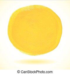 verf , acryl, vector, cirkel, gele