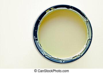 verf dunne metaalplaat, ronde