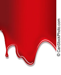 verf , rood, vloeiend
