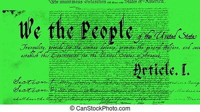 verfassung, geschrieben, 4k, vereinigte staaten