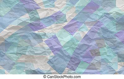 verfrommeld, abstract, textuur, papier, vector, achtergrond