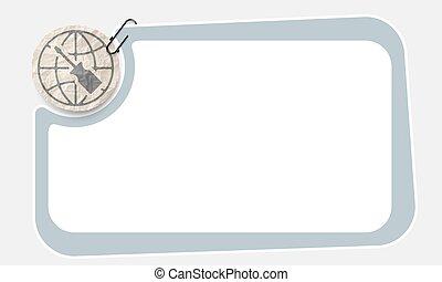 verfrommeld papier, frame, slip, schroevendraaier
