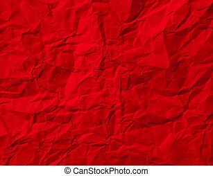 verfrommeld papier, rood, textuur