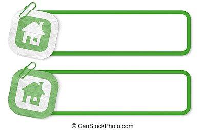 verfrommeld, textuur, papier, groene, lijstjes, thuis, pictogram