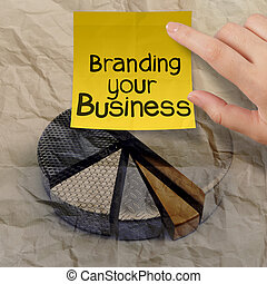 verfrommeld, zakelijk, het brandmerken, tabel, pastei, papier, hergebruiken, jouw