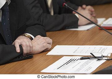 vergadering, bureau