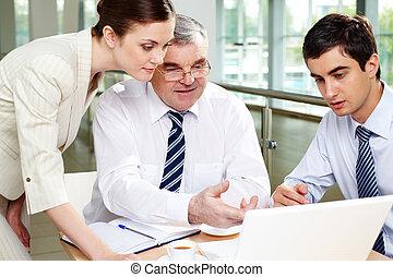 vergadering, kantoor