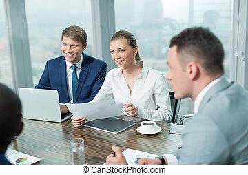 vergadering mensen