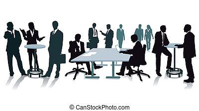 vergadering, personeel