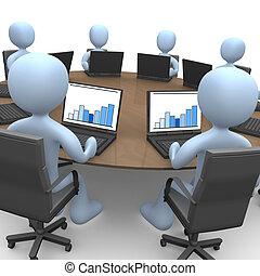 vergadering, team