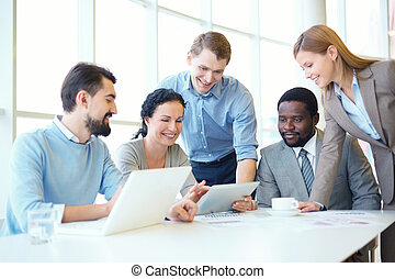 vergadering, werkende