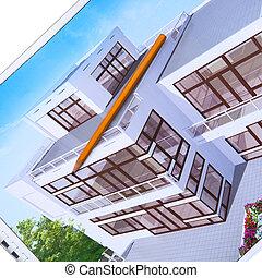 vergegenwärtigung, design, architektur