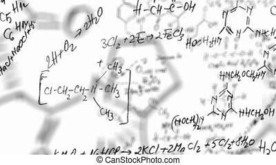 vergelijking, chemie, lus