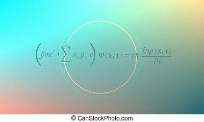 """vergelijking, """"mathematical, dirac, achtergrond, equation."""""""