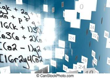 vergelijking, wiskundig, getal