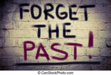 vergeten, het verleden, concept