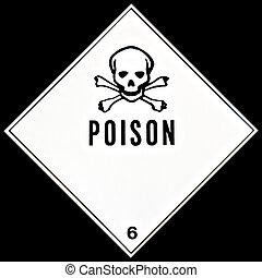 vergiftigen, meldingsbord