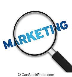 vergrootglas, -, marketing