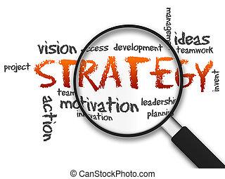 vergrootglas, -, strategie