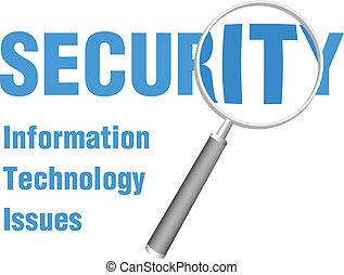 vergroten, brandpunt, op, informatietechnologie, veiligheid,...
