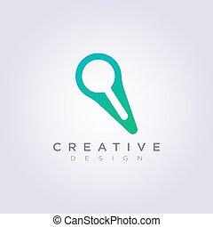 vergroten, symbool, vector, ontwerp, logo, pictogram