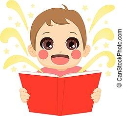 verhaal, elfje, lezende , geitje
