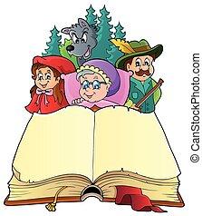 verhaal, elfje, thema, beeld, 3