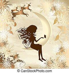 verhaal, kerstmis, goud