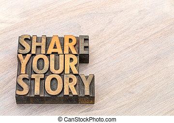 verhaal, woord, abstract, aandeel, hout, type, jouw
