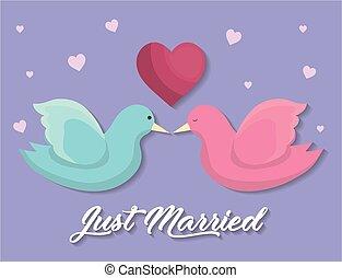 verheiratet, design, gerecht