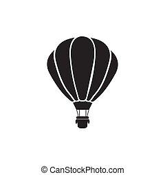 verhite lucht ballon, pictogram