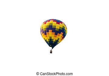 verhite lucht ballon, vrijstaand, op wit, achtergrond