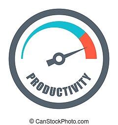 verhogen, concept, productiviteit