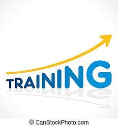 verhogen, opleiding, woord, creatief