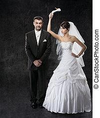 verhoudingen, paar, getrouwd, slecht, conflict