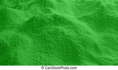verhuizing, op, groene, poeder