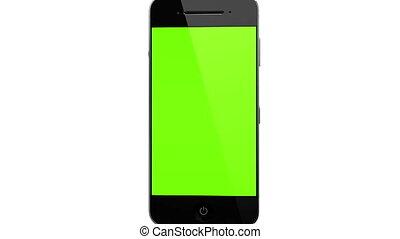 verhuizing, smart, telefoon, verticaal, concept, met, tracking, punten, en, aplha, 2