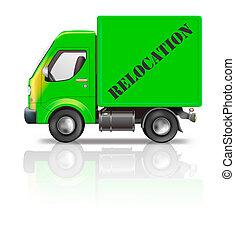 verhuizing, vrachtwagen