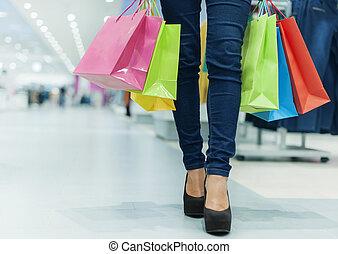 verhuur ons, gaan, shopping!