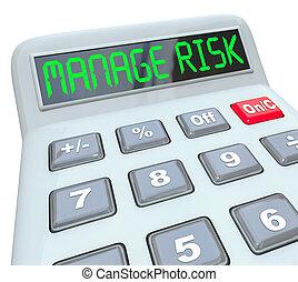 verifica, conformità, rischio finanziario, soldi, calcolatore, amministrare, tuo