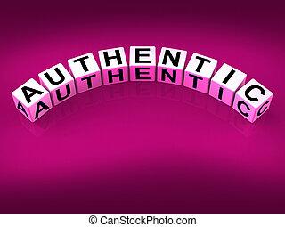 verificado, mostrar, autenticidade, blocos, autêntico,...