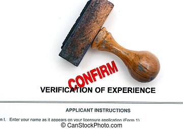 Verification of experience