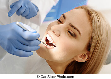 Verification of female oral cavity