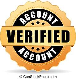 Verified account vector icon - Verified account vector...