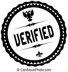 VERIFIED black stamp.